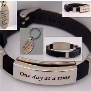 Jewelry - one day at a time bracelet & serenity prayer combo